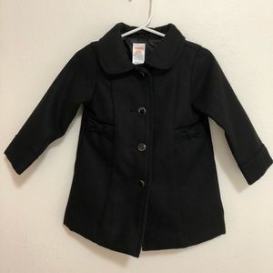 EUC 12 - 24 mo Gymboree Black Dress Coat